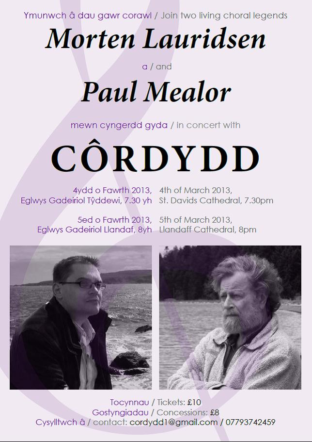 Cyngerdd 4  5 Mawrth 2013